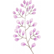 Choose Joy Branch Leaves 01 Watercolor