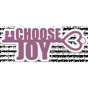 Choose Joy Word Art with Key Sticker