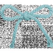 Love Never Fails Blue String Bow