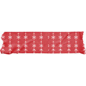 Snowbear Red Washi Tape