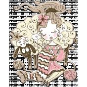 Knit Mini Kit: Chipboard Knitting Girl 1