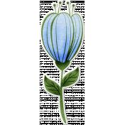 Touch of Frost- winter flower sticker 2