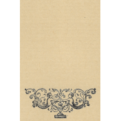 Cherub and Urn (at bottom) vertical 4x6 journal card