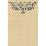 Cherub and Urn (at top) vertical 4x6 journal card