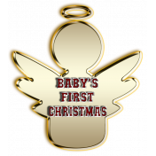Baby's First Christmas Ornament Element
