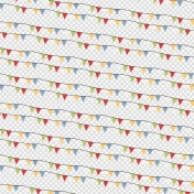Circus Colorful Banner Flag Paper