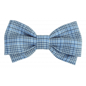 Circus Ribbon Bow Blue