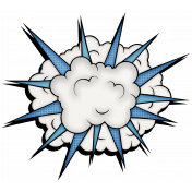 Super Hero Exploding Cloud with Light Beam