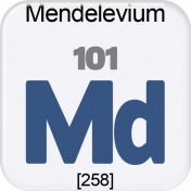 Genius Periodic Table 101 Mendelevium