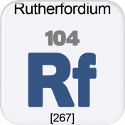 Genius Periodic Table 104 Rutherfordium