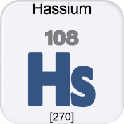 Genius Periodic Table 108 Hassium