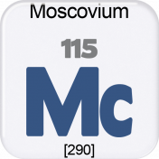 Genius Periodic Table 115 Moscovium