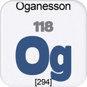 Genius Periodic Table 118 Oganesson