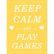 Gamer Girl Card Keep Calm and Play Games