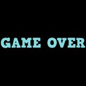 Gamer Girl Word Art Game Over