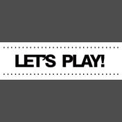 Gamer Girl Word Art Lets Play