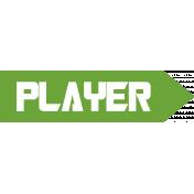 Gamer Girl Word Art Player