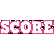 Gamer Girl Word Art Score