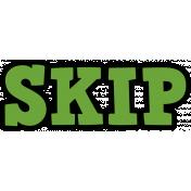 Gamer Girl Word Art Skip