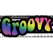 Retro 60s Groovy Word