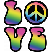 Retro 60s Groovy Love and Peace