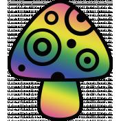 Retro 60s Groovy Mushroom