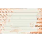 Dog Days of Summer Card