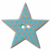 Blue Paw Print Chipboard Star