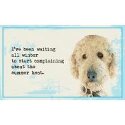 Summer Heat Goldendoodle 3x5 Card