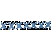 X stitches- Blue