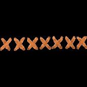 x stitches- Orange