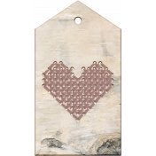Wood Heart tag