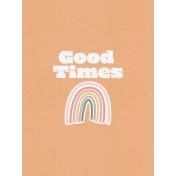 Journal Card- 3x4- Good Times