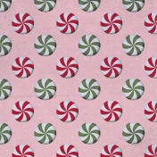 Home For The Holidays Paper- Peppermint Pink