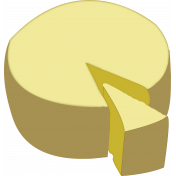 cheese wheel and slice
