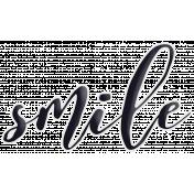 Happy Word Art Smile