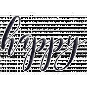Happy Word Art Happy