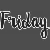 Friday- word art
