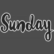 Sunday- word art