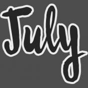 July- word art