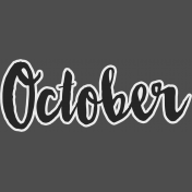 October- word art