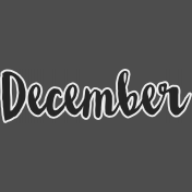 December- word art