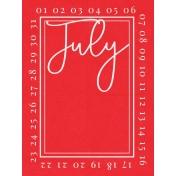 July 3x4 Card