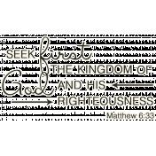 Scripture Word Art- seek first