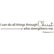 Scripture Word Art- through Christ