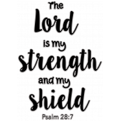Scripture Word Art - the Lord is my strength