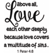 Scripture Word Art - love each other