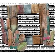 Wooden Easter Bunny Frame Cluster