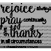 Scripture Word Art - Rejoice Always
