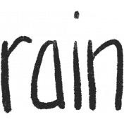 Bearly Spring word art (rain)